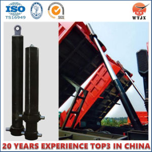 Front End Hyva Type Telescopic Hydraulic Cylinder for Trailer Truck pictures & photos