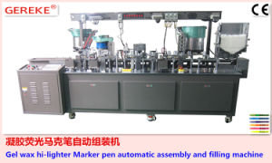 Gel Wax Hi-Lighter Marker Pen Automatic Assembly and Filling Machine pictures & photos