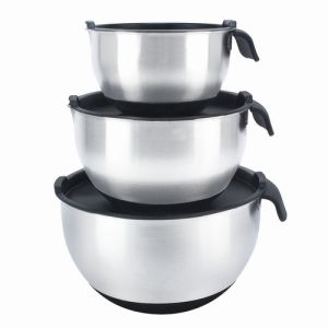 6-Piece Stainless Steel Mixing Bowl Set with PE Cover pictures & photos