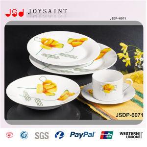 Fine Porcelain Plate Customized (JSD116-R001) pictures & photos