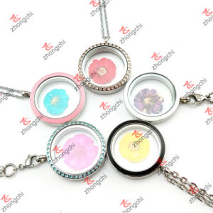 Fashion Customized Floating Living Memory Round Charms Flowers Lockets (RLF50822)