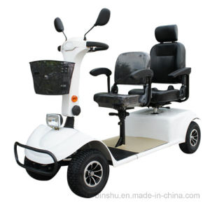 Four Wheel Electric Disabled Scooter with Double Seat pictures & photos