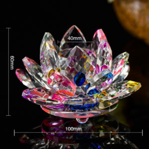 Colorful Crystal Lotus Votive Candle Holder Candlestick for Home Decoration pictures & photos