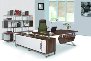 High Quality Melamine L-Shape Office Managing Director Executive Table (HF-B248) pictures & photos