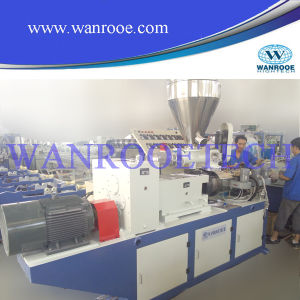 Conical Twin Screw Plastic Extruder Machine pictures & photos