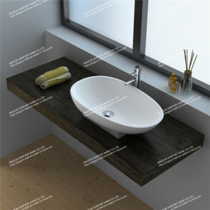 Integrated Artificial Stone Composite Resin Handmade Wash Counter-Top Basin/Sink (JZ9055)