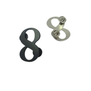 Clothing Hardware Custom Numbers Metal Label Pin Badge pictures & photos