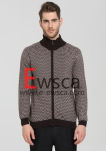 European Style Men′s Intarsia Pure Cashmere Apparel