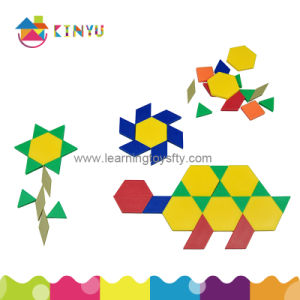Plastic Pattern Blocks / Geometry Shapes (K024) pictures & photos