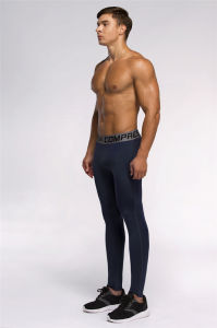 Compression Leggings Running Bodybuilding Men Tights Sport Pants Fitness (AK2015003) pictures & photos