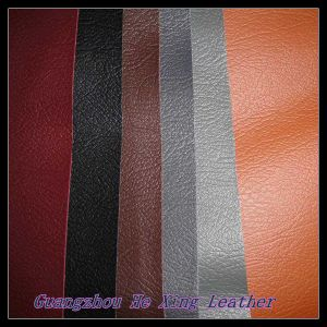 Synthetic Embossed Lichee Pattern PU Leather for Bag, Sofa, Car Seat pictures & photos
