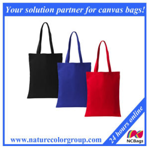 Simple Dyed Canvas Shopping Bag. pictures & photos