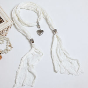 The New Woman Pure Color White Cotton Polyester Fiber Color Scarf Shawl