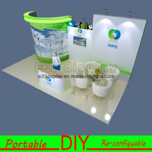 DIY Portable Reusable Exhibition Modular Display with PVC Shelves pictures & photos