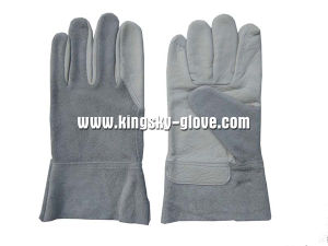Cow Grain Palm Split Back Welding Work Glove--9981 pictures & photos