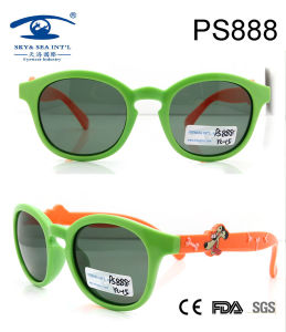 Customer Design Plastic Sunglasses, 2015 Fashion Round Shape Kids Roubber Sunglasses (PS888) pictures & photos