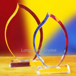 Sublimation Printing crystal Glass Award, Crystal Trophy Ice Peak pictures & photos