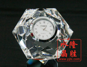 Crystal Glass Clock of Paperweight Wedding Favor Souvenir pictures & photos