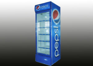 380L Swing Glass Door Energy Beverage Upright Refrigerator with Fan Assited Cooling pictures & photos