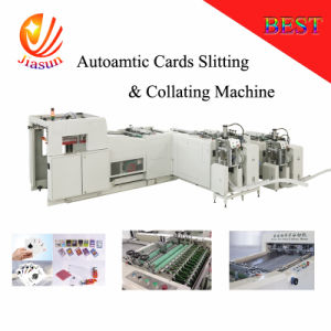 High Speed Poker Cutting with Corner Punching Machine pictures & photos