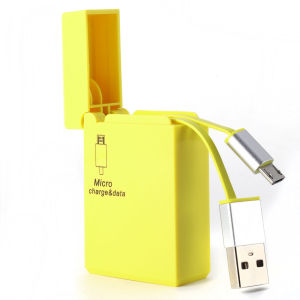 Cigarette Lighter Style Retractable Micro USB Cable pictures & photos