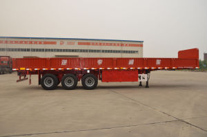 13m 3axles Flatbed Side Wall Semi-Trailer