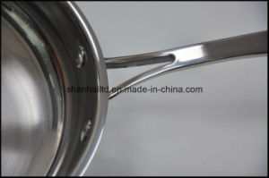 Flat Pan 5ply Composite Material Frying Pan pictures & photos