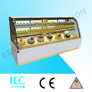 Famous Brand Bakery Fixture Glass Cake Display Fridge for Sale pictures & photos