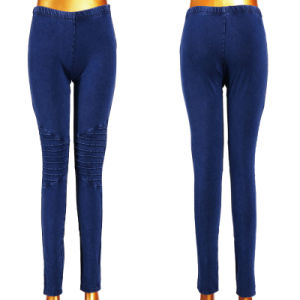 Good Stretchy Dark Blue Women Denim Leggings