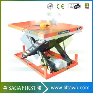 2000kg 2ton High Quality Static Scissor Lift Platform pictures & photos