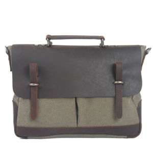 Canvas Vintage Leather Product Handbag Shoulder Bag (RS-8896A) pictures & photos