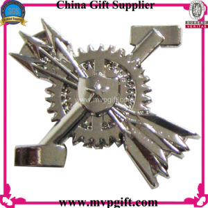 Metal Pin Badge with 3D Logo Engraving pictures & photos