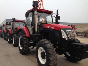 80HP 100HP 120HP 150HP Four Wheeled Agricultural Farm Foton Tractor with A/C Cabin/ Trailer pictures & photos