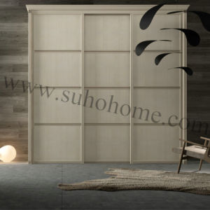 Popular Decorative Aluminum Sliding Wooden Wardrobe Door