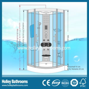 Hot Selling Computer Display Steam Shower Room with Top and Panel Lamps (SR115C) pictures & photos