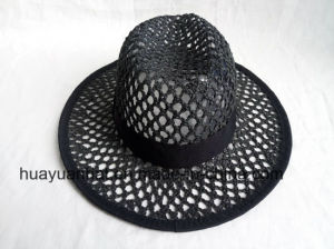 Crocheted Paper Straw Leisure Style Safari Hats pictures & photos