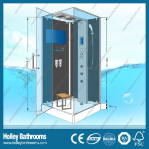 Rectangle Hingle Computer Display Shower Cubicle with Glass Shelf (SR114B) pictures & photos