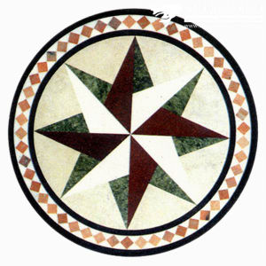 Natural Marble Stone Waterjet Medallion for Hotel Hall (MML002) pictures & photos
