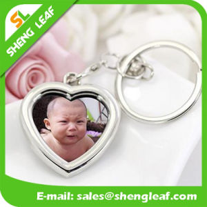 Promotional Gift Laser Logo Photo Frame Metal Keychain (SLF-MK002) pictures & photos
