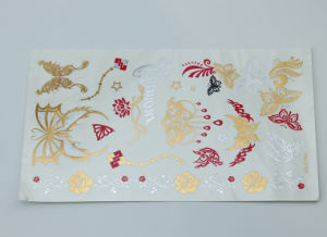 Long Lasting Gold Foil Tattoo, Fashion Sticker Tattoo, Temporary Body Tattoo pictures & photos