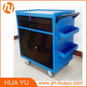Mobile Service Cart Tool Cabinet Garage Storage with 2 Drawers 2 Doors and Key pictures & photos