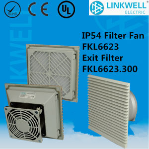 IP54 White RoHS Axial Fan with Filter (FKL6623) pictures & photos