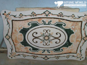 Natural Marble Stone Waterjet Medallion for Hotel Hall (MML009) pictures & photos