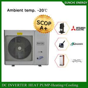 Europe -25c Cold Winter Floor House Heating 100~350sq Meter Villa 12kw/19kw/35kw Defrost Split Evi Air to Water Heat Pump Sales pictures & photos