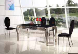 A8041 Simple Design Elegant Shape Metal Dining Table pictures & photos