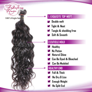 Wholesale Human Real Mink Natural Wave Virgin Brazilian Hair Extension pictures & photos