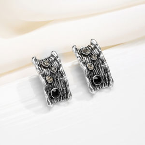 Antique Silver Plated Alloy Crystal Rhinestone Jewelry Earring pictures & photos