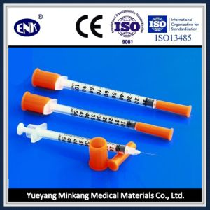 Medical Disposable Insulin Syringe, with Needle (0.5ml) , with Ce&ISO Approved pictures & photos