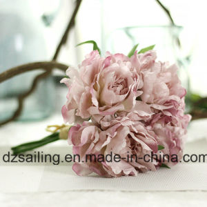 5 Heads Sweet Peony Bouquet Artificial Flower for Decoration (SF13823/5) pictures & photos
