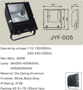 Outdoor Flood Light (JYF-005) 250W and 400W E40 for Metal Halide Lamp pictures & photos